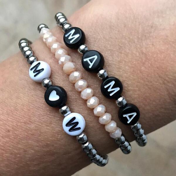Mama armbanden set zilver