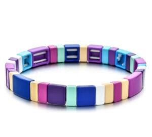 Metalen armband purple