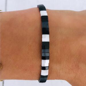 Miyuki armband black