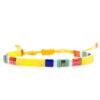 Miyuki armband geel