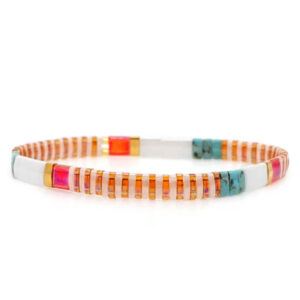 Miyuki armband orange