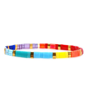 Miyuki armband rainbow
