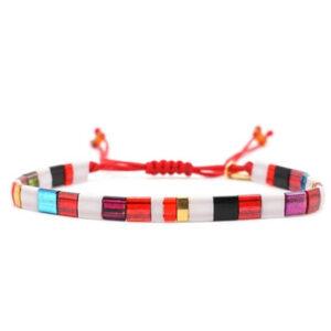 Miyuki armband rood