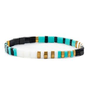 Miyuki armband turquoise