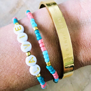 Miyuki armbanden set la vie bangle love life