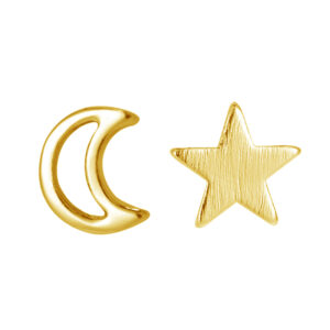 Oorbellen moon and star goud
