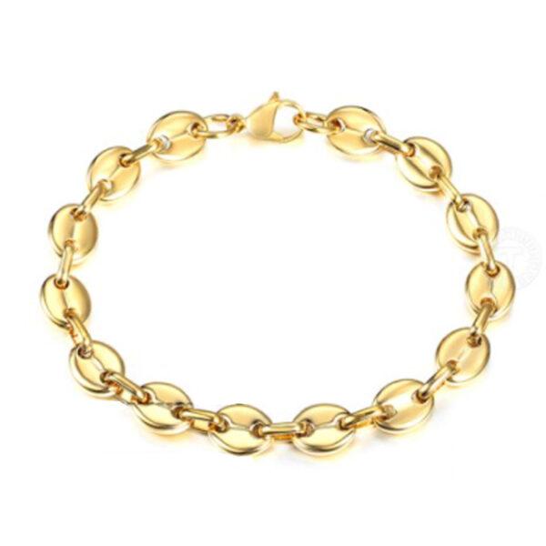 RVS gouden armband