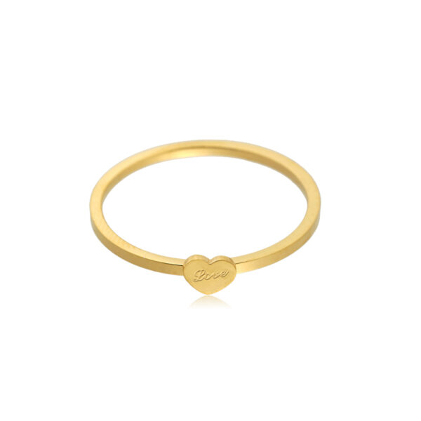 Ring heart goud