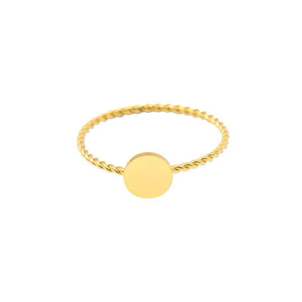 Ring round medium goud