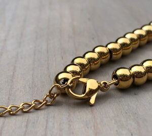 Armband ronde kralen goud