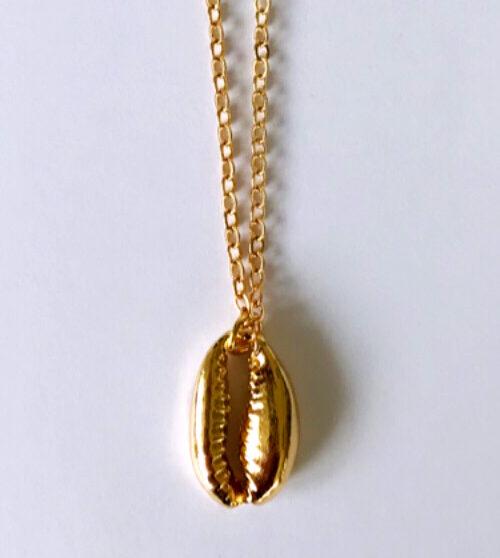 Schelpenketting goud