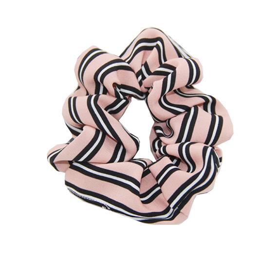Scrunchie gestreept pink