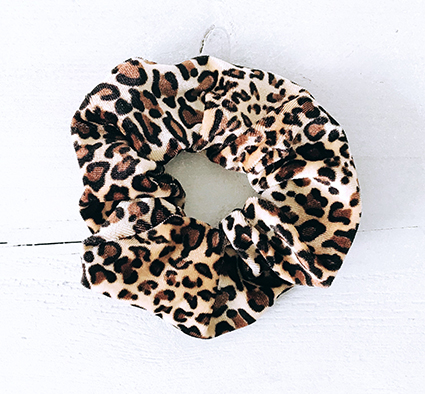 Scrunchie velvet luipaard