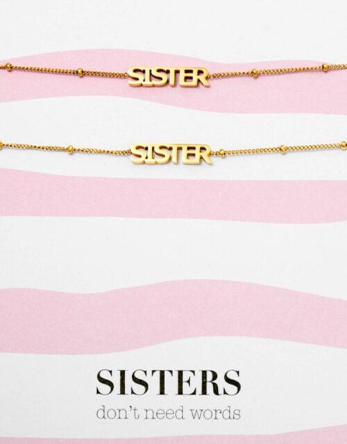 Sisters armbanden goud op kaart