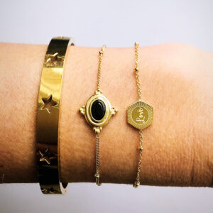 Armbanden set love gold