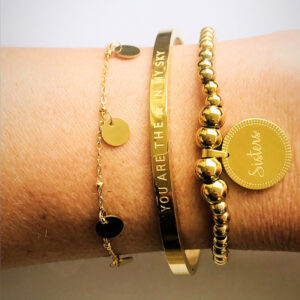 Sisters armbanden set goud you are a star