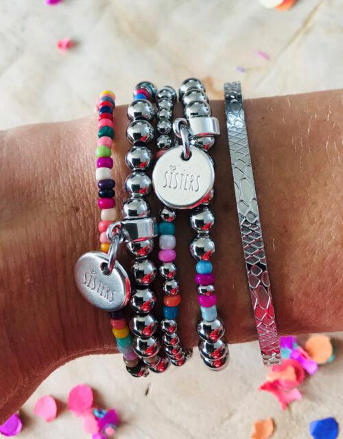 Sisters combi armbanden set