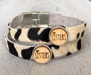 Sisters leer met vacht zebra