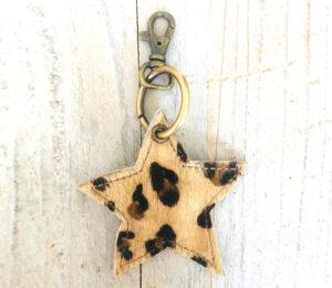 Sleutelhanger star leopard