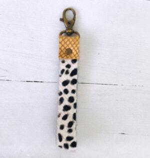 Sleutelhanger yellow leather