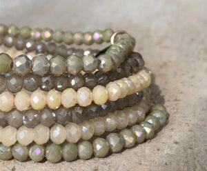Sparkle armbanden set pastel