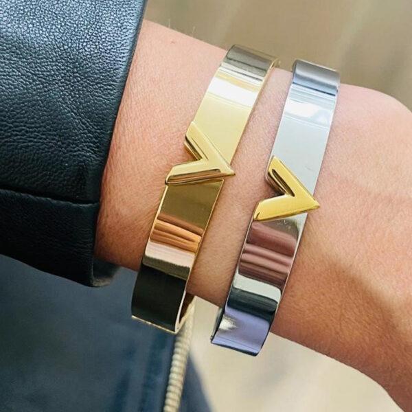 RVS bangle V armband