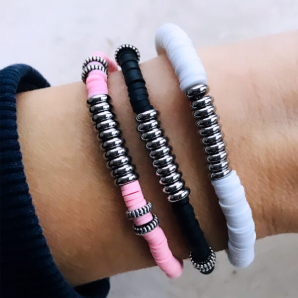 Surfkralen armband zilver