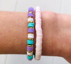 Surfkralen armbanden soft lila