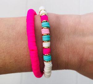 Surkralen armbanden pink