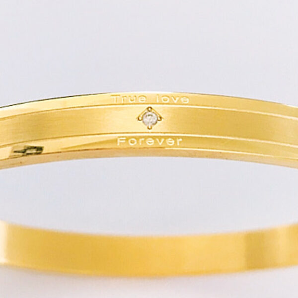 Armband true love goud