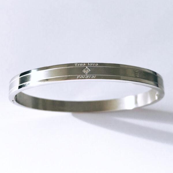 Armband true love zilver