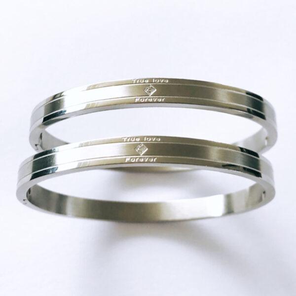 Armband true love zilver dubbel
