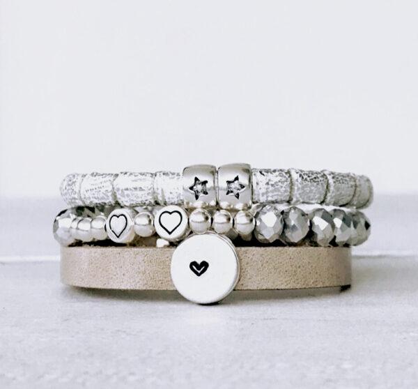 Valentijn armbanden grey