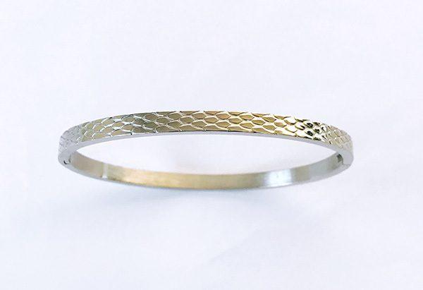 Armband bangle snake zilver