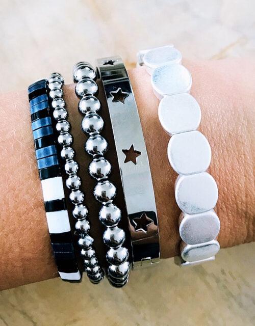 Zilveren armbanden party M