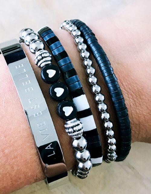 Zilveren armbanden set La Vie