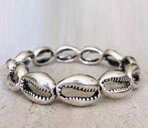 Zilveren schelpen armband