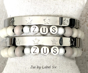Zus armbanden set met bangle stars